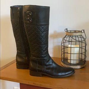 fa006eaaaa Burberry Shoes   Black Kitten Heel Knee High Boots   Poshmark